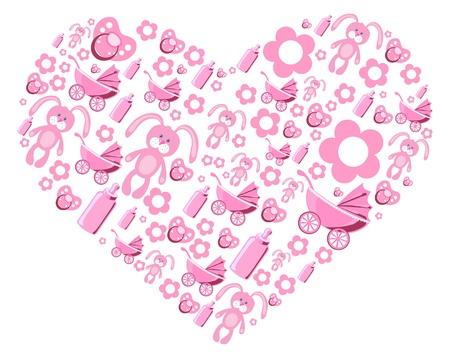 Vector illustration of pink creative heart Stock Vector - 9428110