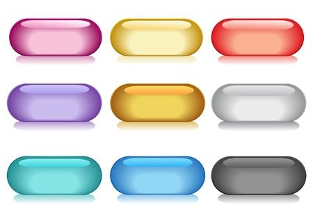 buttons: Illustrazione vettoriale della collezione di bottoni colorati