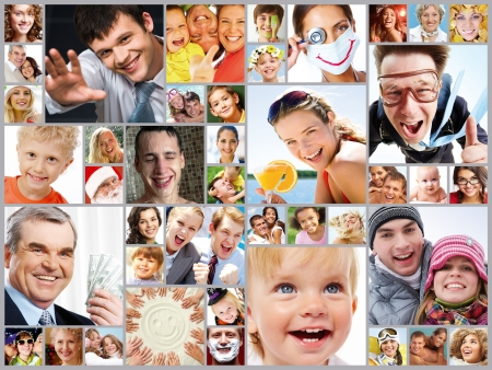 collage caras: Collage de im�genes con diferentes personas
