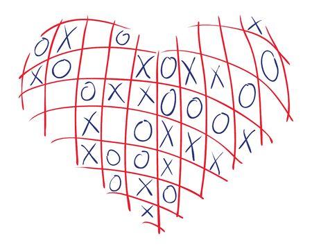 divination: illustration of heart for divination Illustration