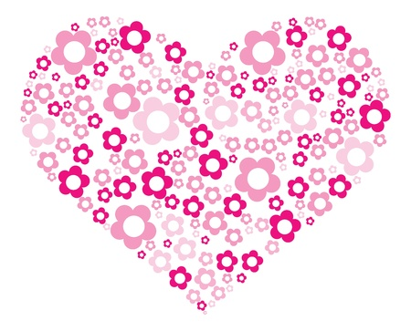 illustration of painting pink heart   Vector