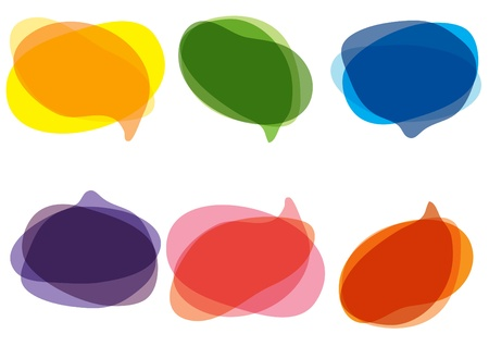 illustration of colorful bubbles for speech Ilustracja