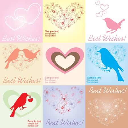 illustration of Valentine Day greeting cards Vector