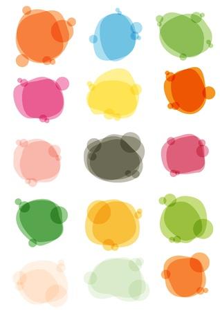 illustration of multicolored bubbles for speech Vector