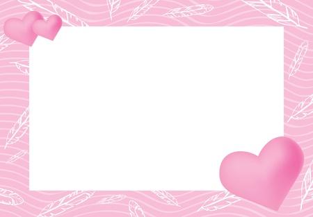 illustration of pink frame Stock Vector - 9461873