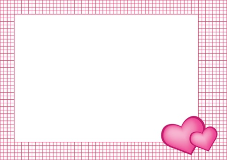 Frame with hearts Stock Vector - 9461886