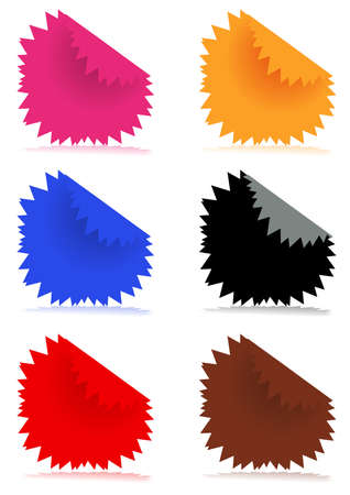illustration of glossy color stickers  Vector