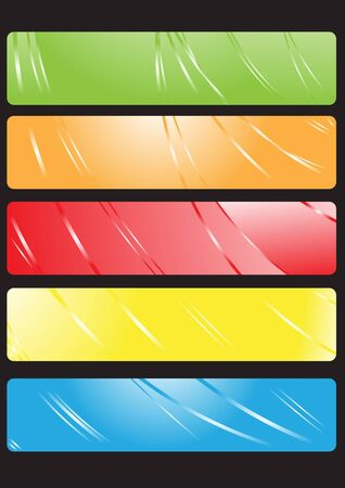 illustration of color banners Stock Vector - 9455196