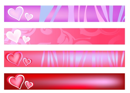 Creative banners with hearts Vector