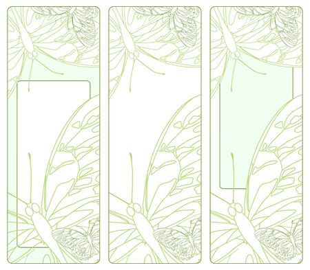 illustration of three cards with butterflies Vector