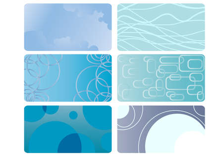 visiting card design: Collection of blue business cards Illustration