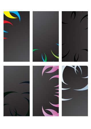 illustration of black business cards  Vector