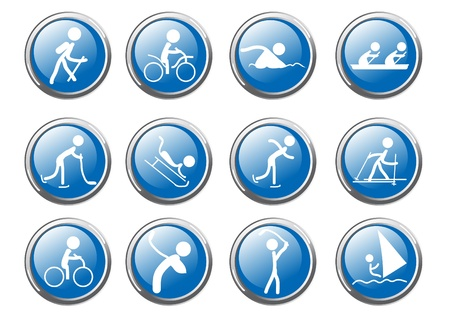 illustration of collection of sport icons Stock Vector - 9461948