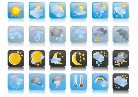 tag und nacht: Abbildung der Sammlung von Wetter-icons  Illustration