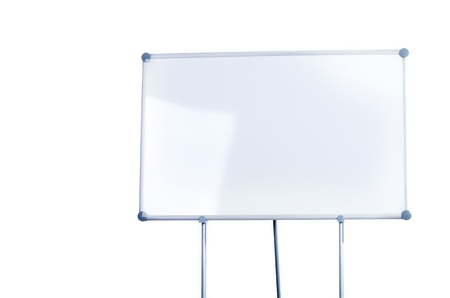 Image of a whiteboard isolated on white Stock Photo - 9571848