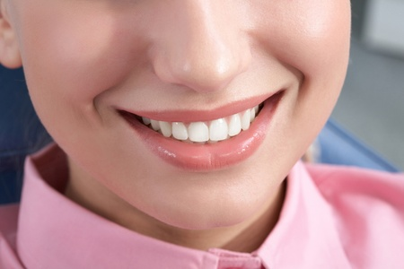 Close-up of happy female smile and healthy teeth Stock Photo - 9675133