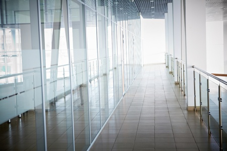Image of office corridor inside building Stock Photo - 9725267