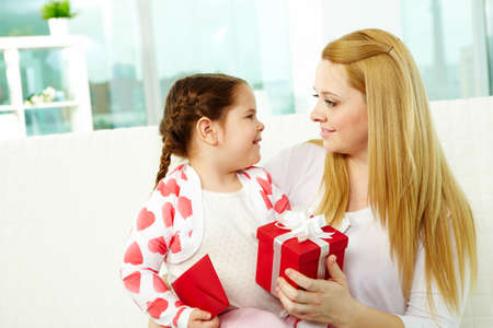 Happy mother and her daughter looking at one another Stock Photo - 9725820