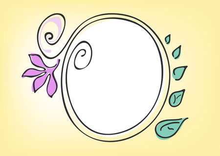 Vector illustration of circle frame on a yellow background Stock Illustration - 9726263