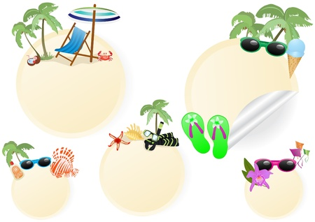 Vector illustration of rest and travel stickers    illustration