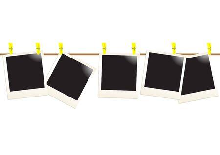 attach?: Fotos al instante de adjuntar a la cuerda, ilustraci�n de vectores  Foto de archivo