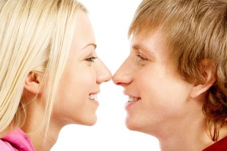 Image of lovely couple face to face  photo