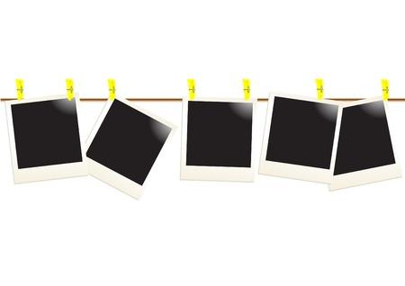 attach?: Fotos al instante de adjuntar a la cuerda, ilustraci�n de vectores  Vectores