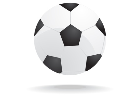playoff: illustration of soccer ball isolated on a white background