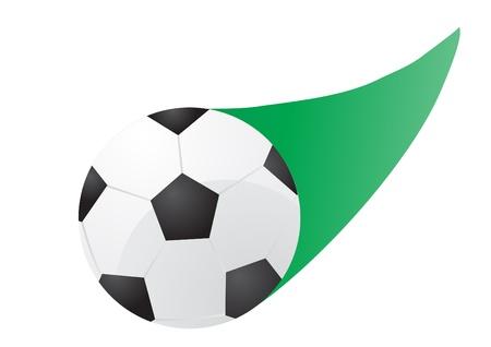 illustration of flying soccer ball     Vector
