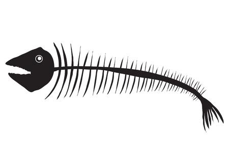 dead fish: illustration of dead fish