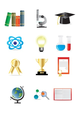 illustration of science icons Vector