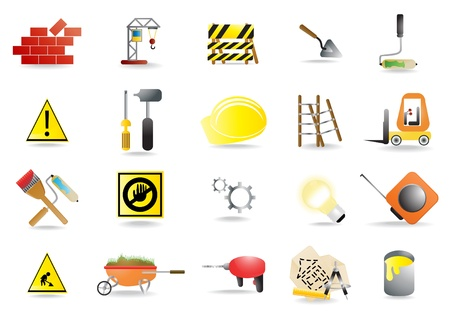 icons of homebuilding tools Vector