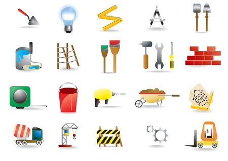 set of construction and building icons