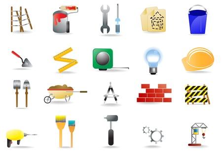 Conjunto de iconos de construcción diversos