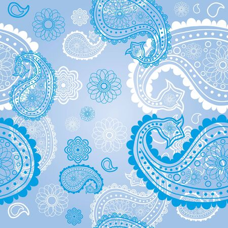 Eastern pattern in blue  Vector