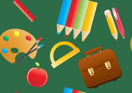 illustration of seamless school background          Vector
