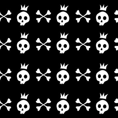 illustration of original halloween text made from bones  Vector