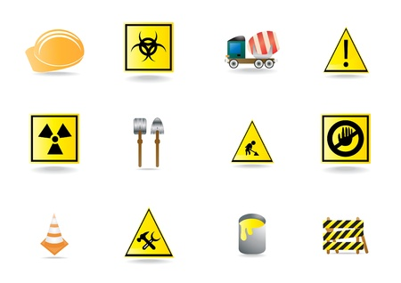 Set of under construction icons, illustration  Vector