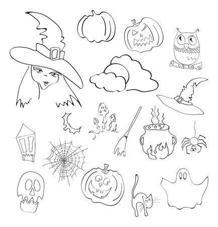 illustration of halloween elements Vector