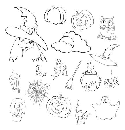 illustration of halloween elements Vector