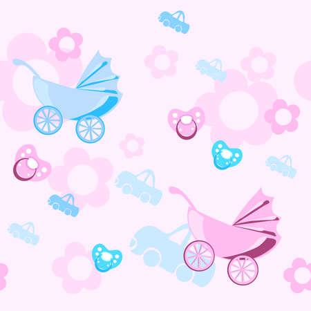 dummies: Pastel colors baby pattern, illustration