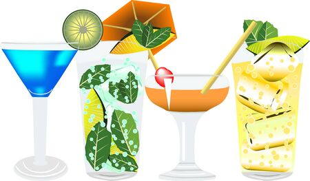 alcoholist: illustration of different alcoholic drinks