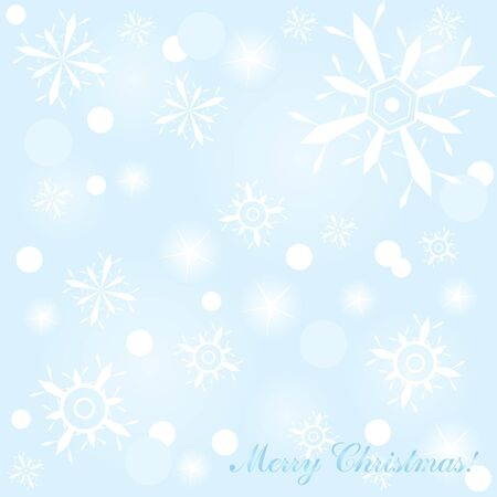 illustration of blue Christmas background with snowflakes and lights Stock Vector - 9727443
