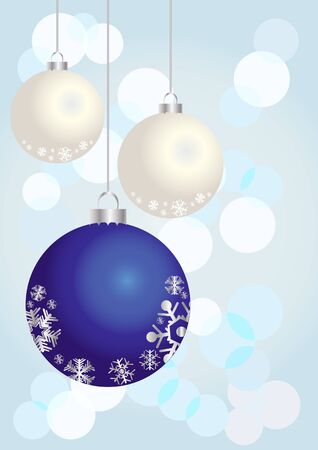 illustration of Christmas balls on a shiny background   Stock Vector - 9727868