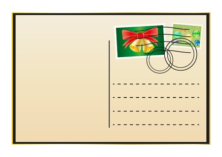 illustration of envelope with Christmas stamps  Vector