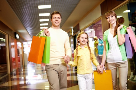 Image of family spending their time in the mall Stock Photo - 9821894