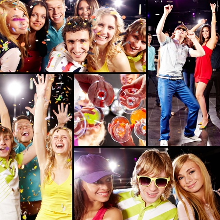 people partying: Collection of images from cool party Stock Photo
