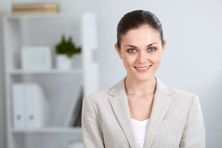 Portrait of successful businesswoman looking at camera with smile Stock Photo - 9819757