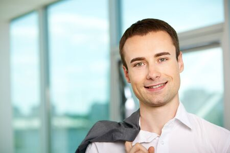 Face of happy businessman looking at camera Stock Photo - 9818553