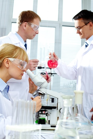 Working in lab Stock Photo - 9910729
